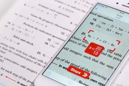 PhotoMath nos ayudará a resolver problemas matemáticos con la cámara de nuestro smartphone