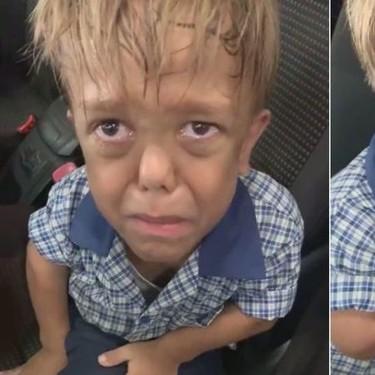 """""""Me quiero morir"""": el desgarrador vídeo viral de un niño con acondroplasia que sufre bullying (y el abrumador apoyo que ha recibido)"""