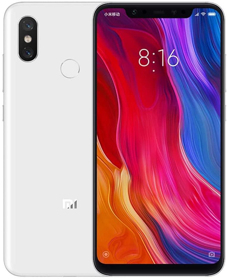 """Xiaomi Mi 8 - 6.21 Dual SIM Smartphone"""" (Octa-Core Kryo 2.8 GHz, 6 GB RAM, 64 GB memory, 20 MP camera, Android 8.0) Color White [Versión Oficial] [Clase de eficiencia energética A]"""