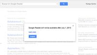 Google Reader cerrará sus puertas el 1 de julio de este año