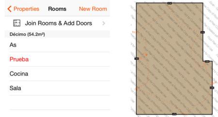 Menu y mapa RoomScan