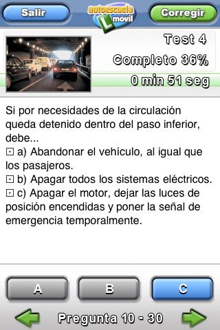 autoescuela móvil, test 1