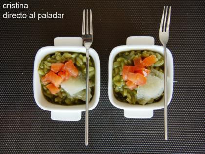 Risotto verde de espinacas