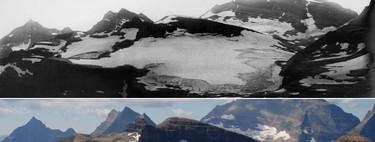 23 imágenes del antes y el después de algunos de los glaciares más bonitos de la tierra, ahora casi extintos