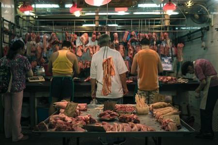 Carne en mercado