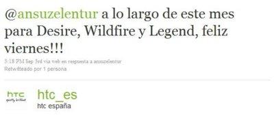HTC WildFire y Legend recibirán Froyo en septiembre