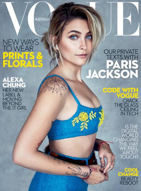 Vogue Asutralia confía en Paris Jackson para su portada y confirma lo que ya sabíamos: su espectacular belleza