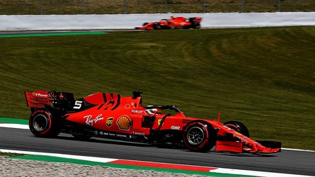 Vettel Leclerc Espana Formula 1 2019