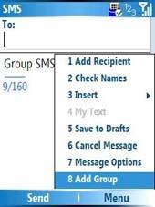Mensajes SMS a grupos en Windows Mobile
