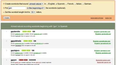 Encuentra un nombre para tu web con Wordoid
