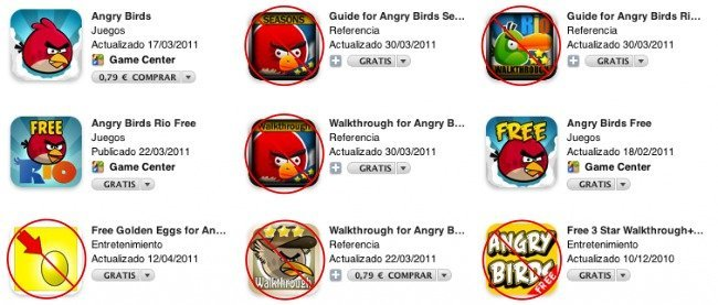 itunes app store apple angry birds búsqueda aplicaciones