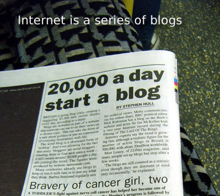 Internet is a series of blogs (XXVI)