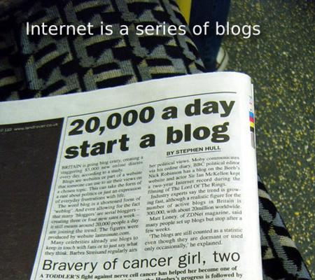 Internet is a series of blogs (XXVI)