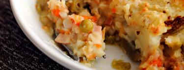 Fish pie o pastel de pescado, receta tradicional británica