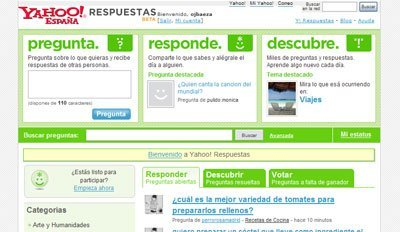 Yahoo! Respuestas desembarca en España, pregunta, pregunta,...