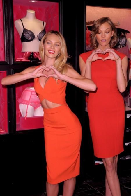 ¡Hola corazones! Candice Swanepoel y Karlie Kloss, el dulce de San Valentín