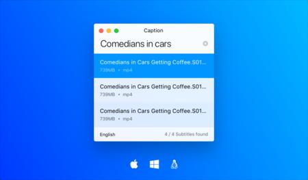 Caption encuentra automáticamente los subtítulos para todos tus vídeos en Windows, Mac y Linux
