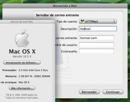 Httpmail 1.52 ya funciona bajo Mac OS X 10.5.3