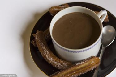 Churros con chocolate caliente. Receta