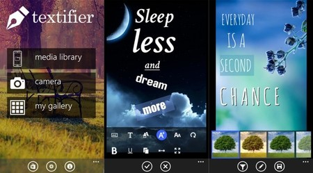 Textifier te permite agregar texto con estilo a tus imágenes. La aplicación de la semana