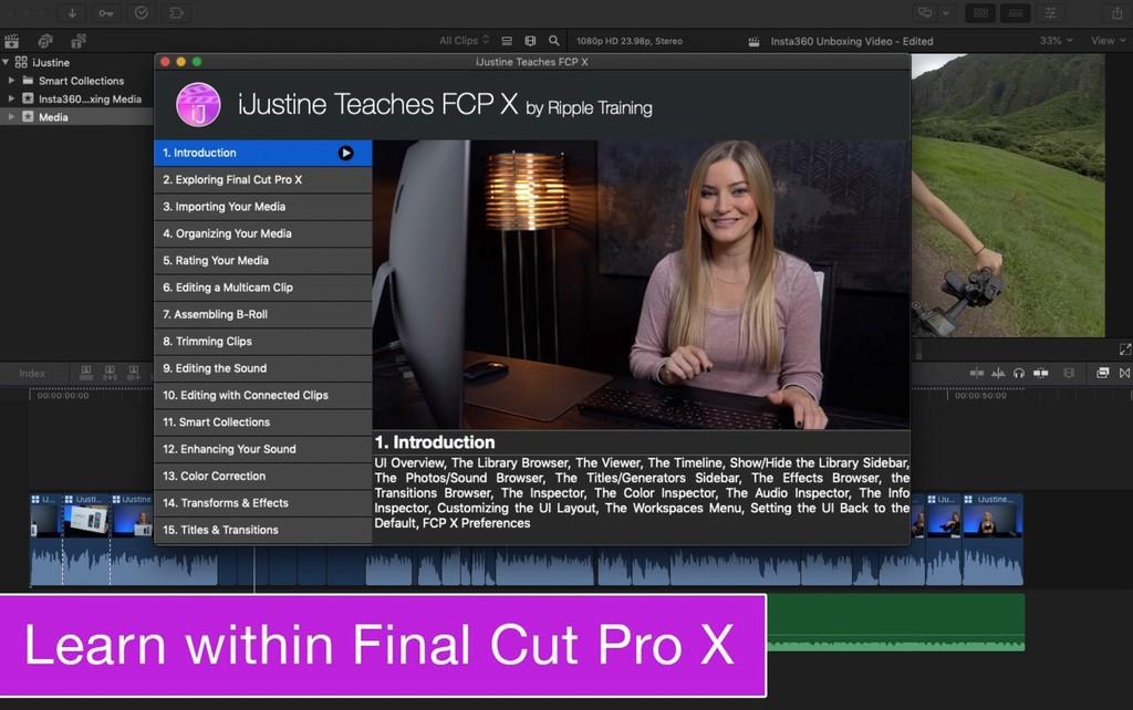 La youtuber iJustine lanza una app para aprender a usar Final Cut Pro X
