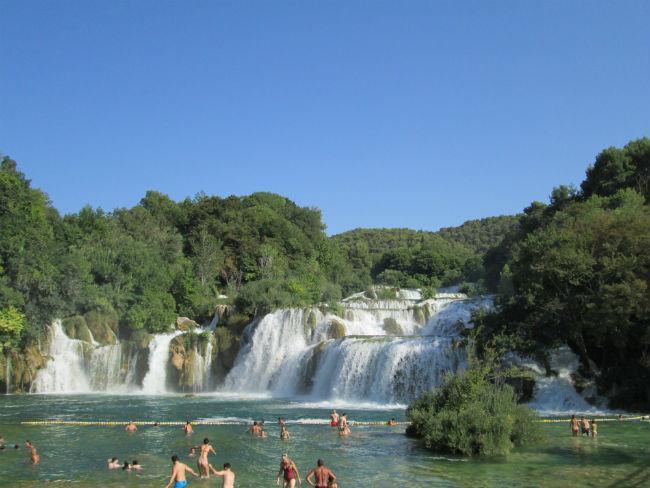 La cataratas del Krka. Un baño en Croacia