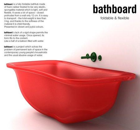 Bañera plegable, ¿serán así las bañeras del futuro?