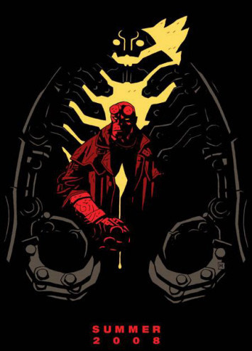 Teaser póster de 'Hellboy II: The Golden Army'