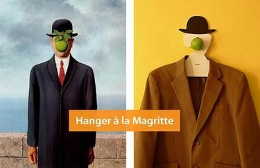 Percha homenaje a René Magritte