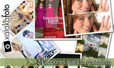 24 acciones gratis para photoshop