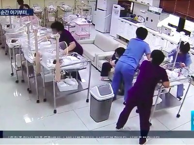 Así reaccionan las enfermeras neonatales para poner a salvo a los bebés durante un terremoto en Corea del Sur