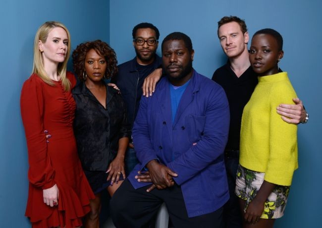 Sarah Paulson, Alfre Woodard, Chiwetel Ejiofor, Steve McQueen, Michael Fassbender y Lupita Nyong'o