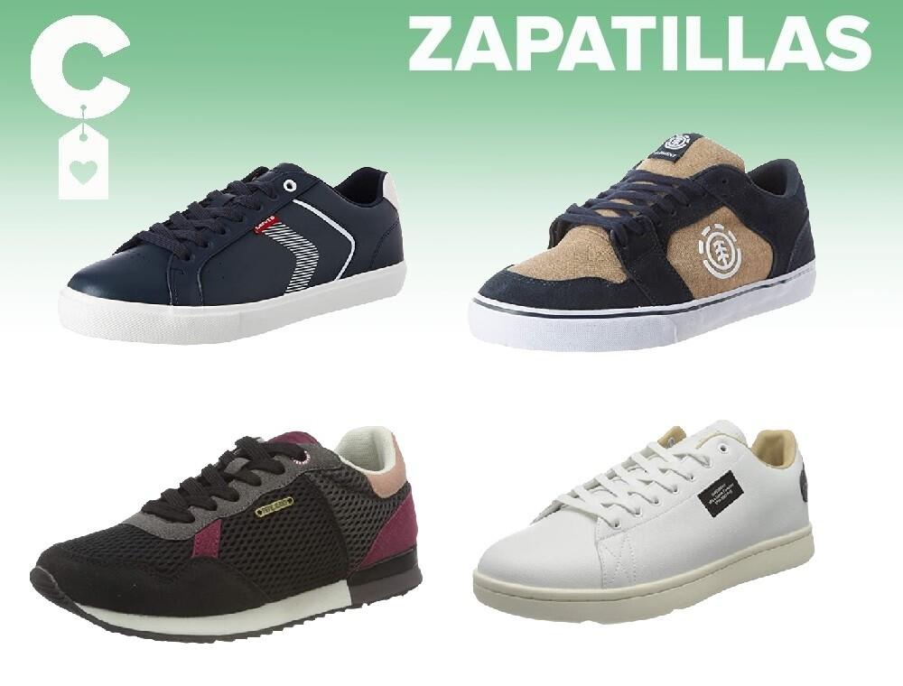 Chollos en tallas sueltas de zapatillas Pepe Jeans, Levis, Superdry o Element en Amazon