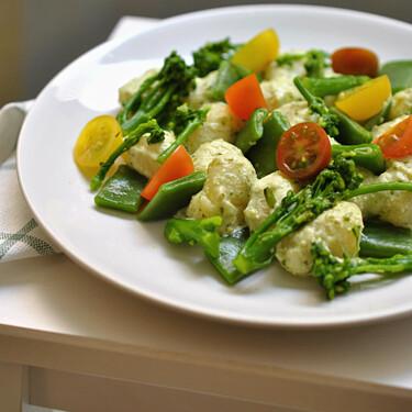 Gnocchi o ñoqui verde, receta vegetariana saludable y completa