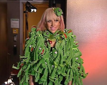 Lady Gaga y la rana Gustavo