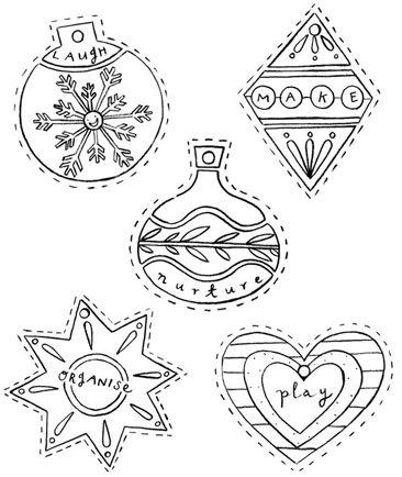 Adornos de navidad para imprimir y colorear - Adornos navidenos para arbol de navidad ...