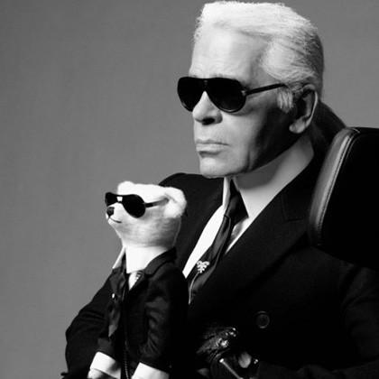 Karl Lagerfeld y el oso, cuanto más feo...