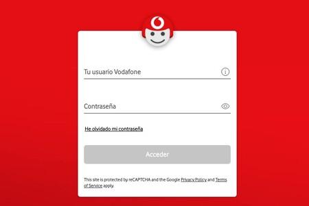 Introduciendo nuestro usuario y clave en Vodafone TV