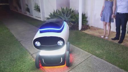 El robot repartidor de pizzas ya existe y se está probando en Nueva Zelanda