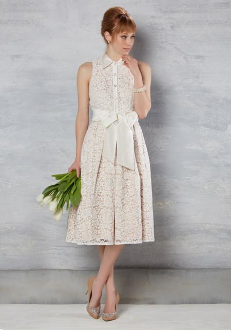 Vestido Novia Modcloth Retro