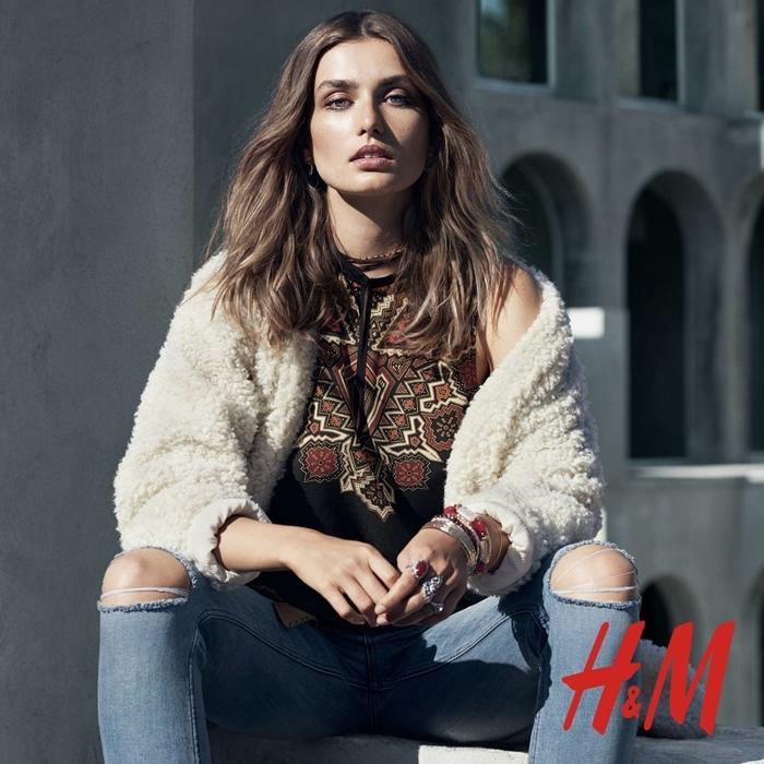 Foto de H&M catálogo Otoño-Invierno 2015 con Andreea Diaconu (4/6)