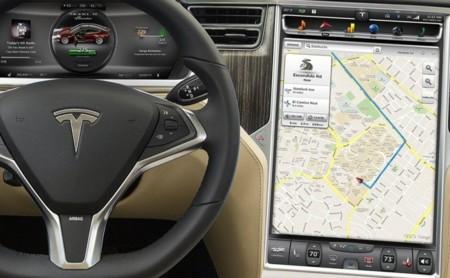 Tesla Model S, organización de la pantalla táctil