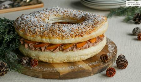 Roscón de hojaldre, trufa y naranja confitada, la alternativa fácil y rápida para disfrutar de las tradiciones navideñas (receta con vídeo incluido)