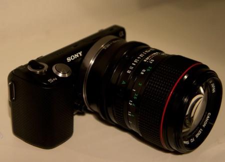 Sony Nex con objetivo Canon