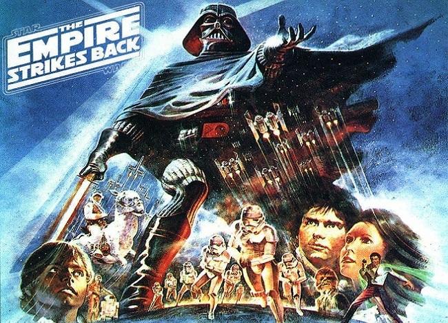 Imagen con el cartel de 'El imperio contraataca'