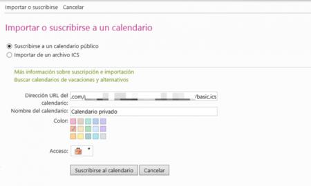 Calendario de Outlook.com