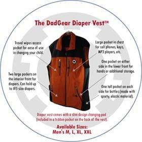 DadGear Diaper Vest: el bolso del bebé en un chaleco