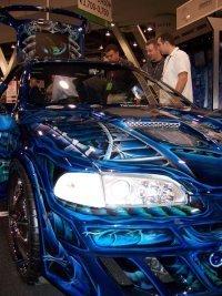 Un Honda Civic controlado con una PSP