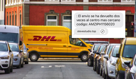 """""""El envío se ha devuelto dos veces"""": la estafa SMS que busca infectar móviles Android vuelve a la carga suplantando de nuevo a DHL"""