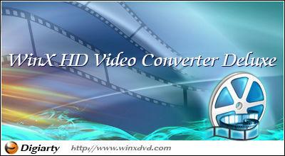 WinX HD Video Converter Deluxe, pantalla de inicio